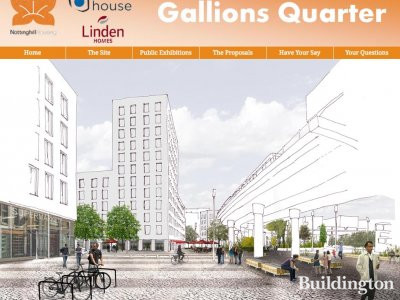 Screen capture of Gallions Quarter proposal site at gallionsquarter.com