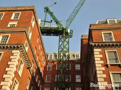 View to the Grosvenor Square development from North Audley Street