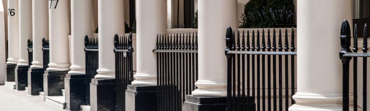 Doric columns of Eaton Square building