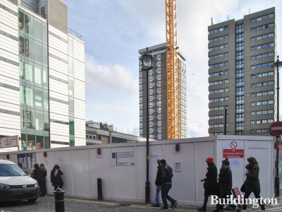Trenchard House development site in Soho, London W1.