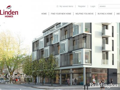 Screen capture of The Chiswick Corner Haus on Linden Homes website at www.lindenhomes.co.uk/cornerhaus