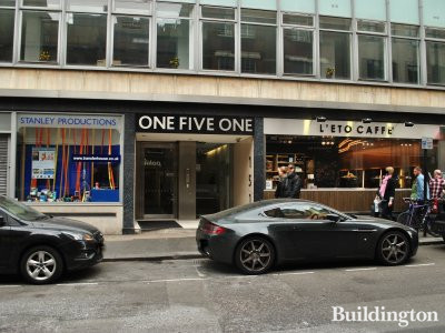Entrance to one five one. 147-155 Wardour Street