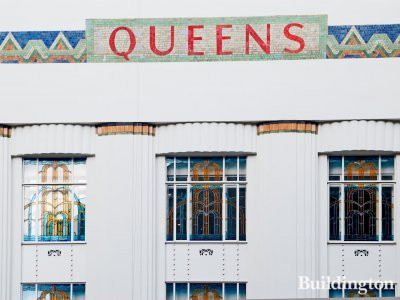 Queens restored facade on Bishop's Bridge Road.