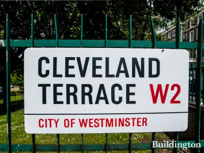 Cleveland Terrace, City of Westminster W2 street sign