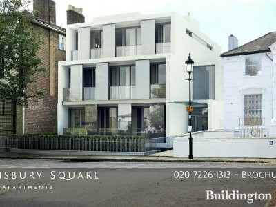 Screen capture of 16 Barnsbury Square website