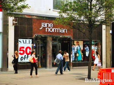 Jane Norman shop at 388-396 Oxford Street.
