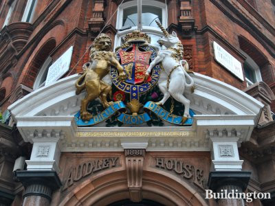 Audley House on South Audley Street in Mayfair, London W1.