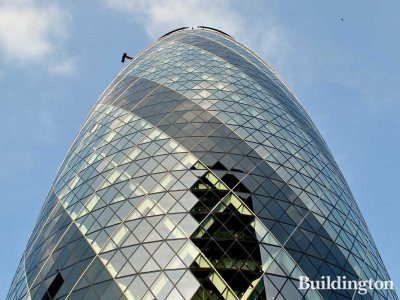30 St Mary Axe is also known as 'Gherkin'