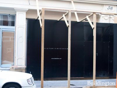 Victoria Beckham's standalone store before opening in September 2014.