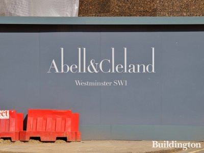 Abell & Cleland development site in Westminster, London SW1.