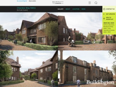 Chandos Way development page on Barratt London website