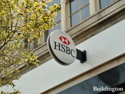 HSBC bank signage on the building.