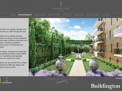 Screen capture of Oakhill Park website at Oakhillpark.co.uk
