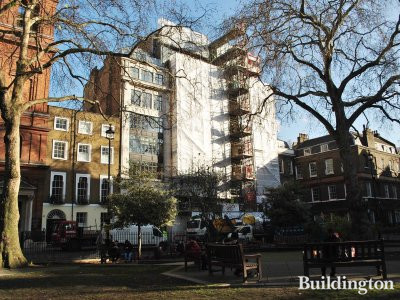 25 Soho Square being refurbished in 2012.