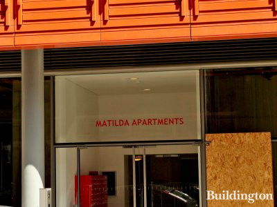 Matilda Apartments entrance at Central St Giles