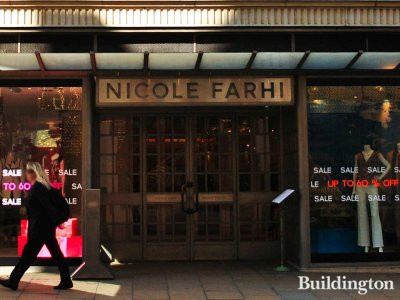 158-159 New Bond Street - Nicole Fahri store entrance - the store moved to Conduit Street in 2011 after 17 years.
