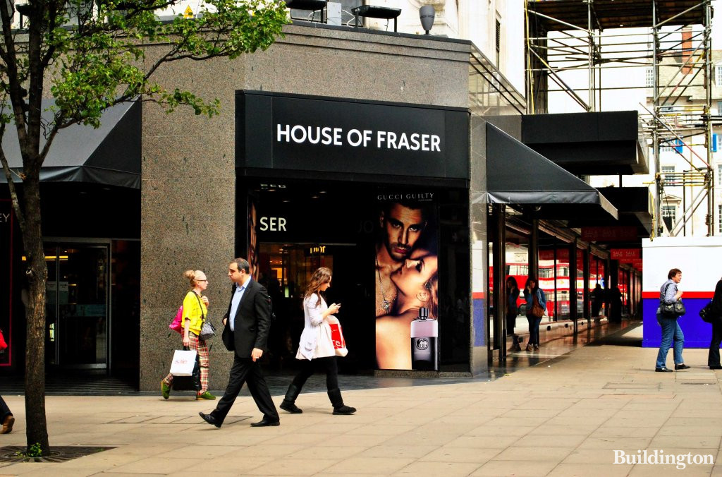 b68e147126f5 Entrance to House of Fraser department store from Oxford Street in the  Summer of 2011