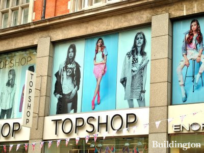 42 Kensington High Street - Topshop windows