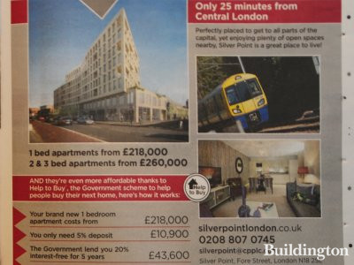 Advertisement for Silver Point development in Homes & Property, Evening Standard, 12. Nov 2014