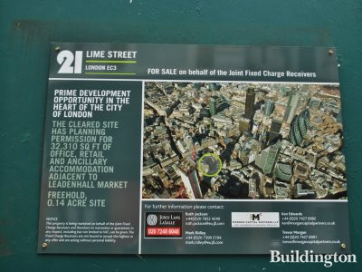 21 Lime Street prime development in the heart of the city of London.