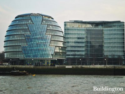 View to City Hall from Thames.