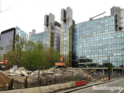 Paddington Exchange development site and Waterside Building.