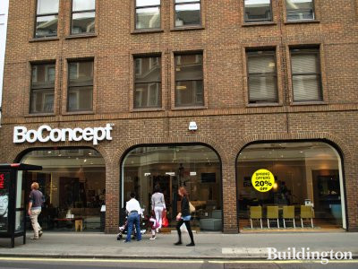 18-24 Westbourne Grove. BoConcept store on the ground floor www.boconcept.com