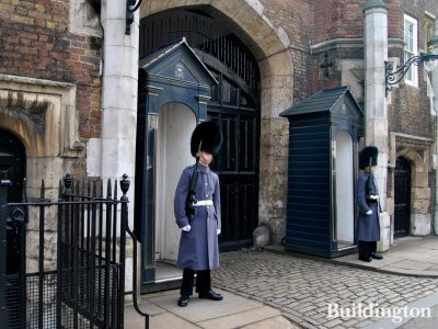 Guards at St James's Palace.