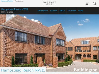 Hampstead Reach development on Barratt website in September 2016