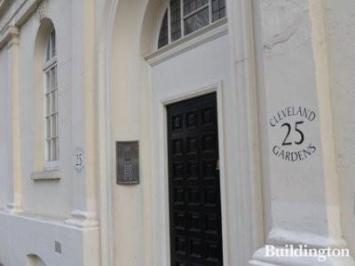 Entrance to 25 Cleveland Gardens