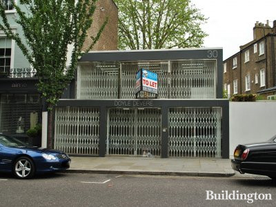 30 Ledbury Road - the former Doyle Devere gallery building is for sale or for lease