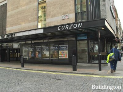 Curzon Cinema building - showing The Artist, Iron Lady, Coriolanus and Carnage in January 2012