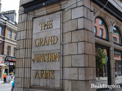 The Grand Junction Arms at 28 Praed Streetin Paddington, London W2