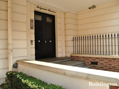Entrance to Belgravia Mansions.