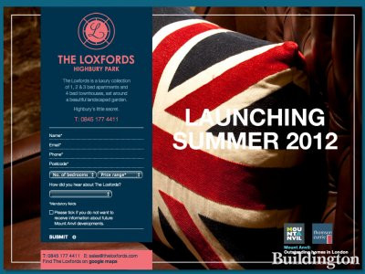 Screen capture of The Loxfords development website at www.theloxfords.com