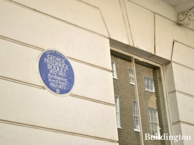 Architect George Frederick Bodley, 1827-1907 lived here at 109 Harley Street in 1862-1873.