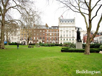 View to the building from Cavendish Square.