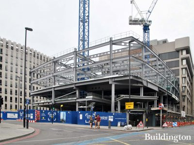 Aldgate Tower construction site in July 2013.