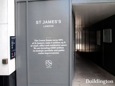 The Crown Estate owns 50% of St James's, some 4 million sq ft of retail, office and residential space. We are investing in £500 million in strategic portfolio and public realm improvements.