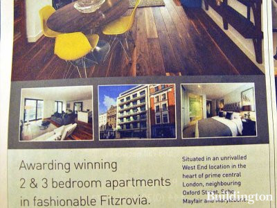 23-24 Newman Street advertisement by Savills in FT Weekend in March 2013