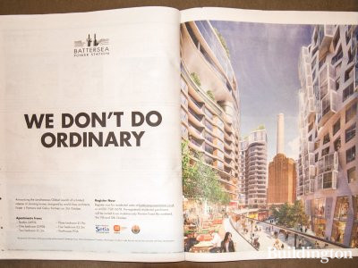 We don't do ordinary - Battersea Power Station advertisement in Homes & Property, Evening Standard 8. 10. 2014