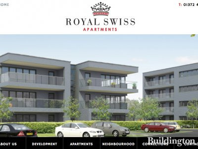 Screen capture of Royal Swiss Apartments website at Royalswissapartments.com in November 2013.