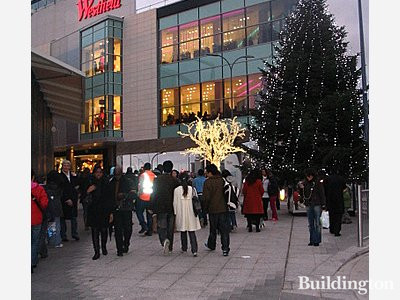 Westfield London, view from outside Sheperd's Bush tube station