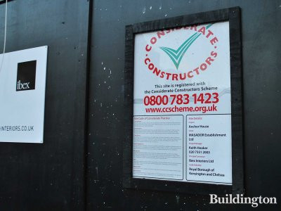 Anchor House Considerate Constructors Scheme.