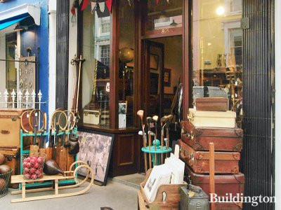 Henry Gregory antiques and vintage luggage shop at 82E Portobello Road
