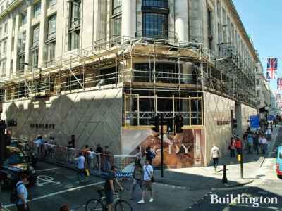 Burberry store under construction in May 2012