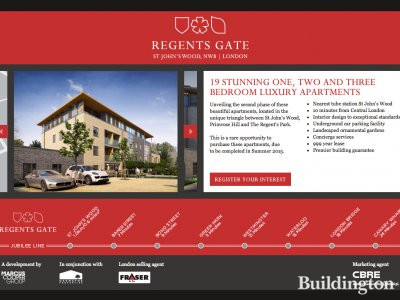 Screen capture of Regents Gate development website at www.regentsgatelondon.co.uk
