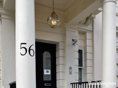 Entrance to 56 Lancaster Gate in Spring 2014.