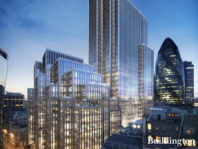 CGI of 40 Leadenhall Street exterior.