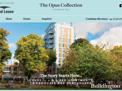 Screen capture of The Opus Collection website at www.opuscollection.london